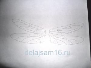 эскиз крыльев