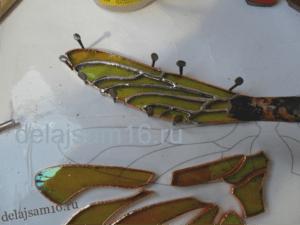 как сделать крылья стрекозы