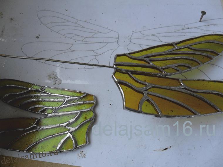 Как сделать крыло стрекозы