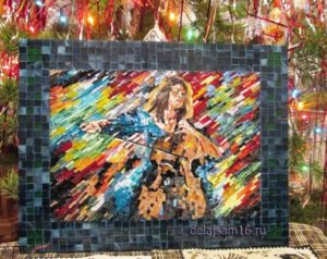 картина из мозаики по мотивам работы Л. Афремова
