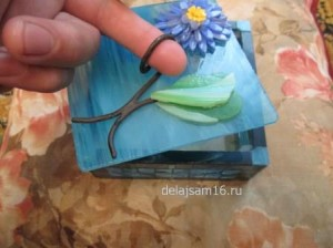 шкатулка своими руками из стекла