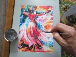 мозаика по мотивам картины Леонида Афремова