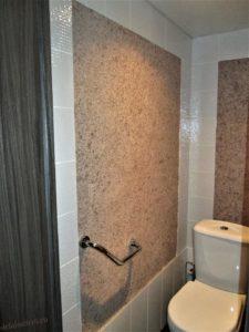 жидкие обои в туалете фото
