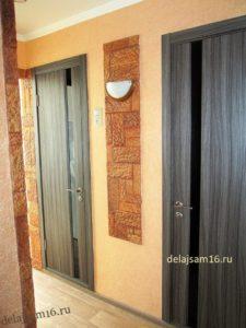 терракот и шёлковая штукатурка (жидкие обои) в интерьере обычной квартиры фото
